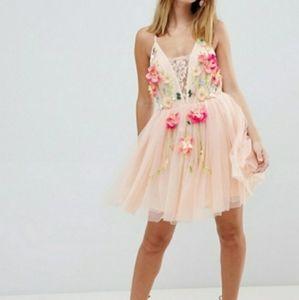 ASOS Floral Embellished Tulle Dress